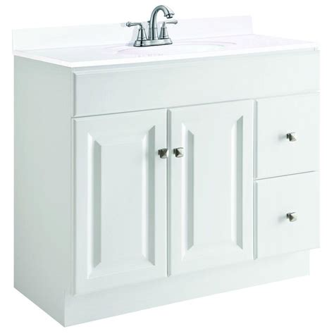 Unassembled Bathroom Vanity Cabinets Design House Wyndham 36 In W X 18 In D Unassembled Vanity Cabinet Only In White Semi Gloss
