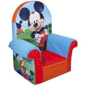 marshmallow high back chair disney mickey mouse club