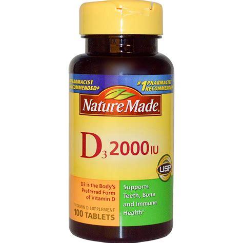 Vitamin Supplement nature made d3 vitamin d supplement 2000 iu 100