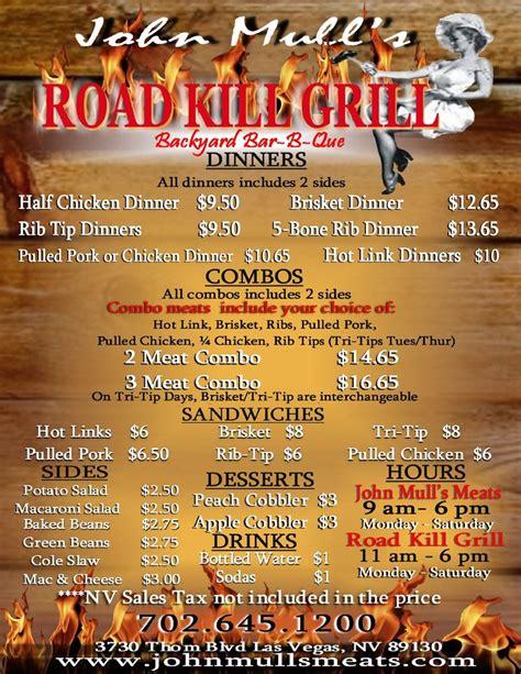 Backyard Grill Menu Jones Rd Mull S Meats Road Kill Grill Amazing Pulled Pork