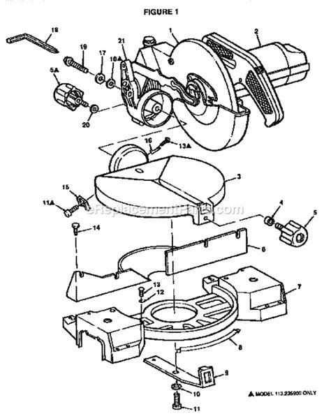 Craftsman 113235100 Parts List And Diagram