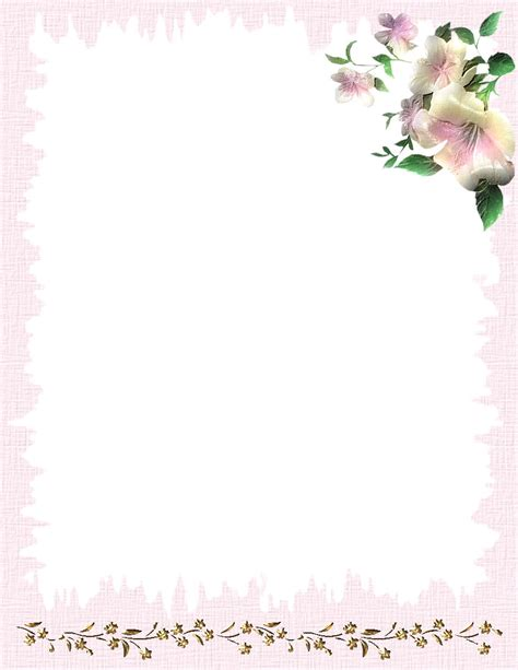 stationery templates free nature stationery themes page 1