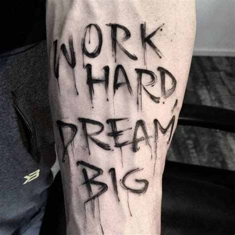 hard work tattoo designs 40 awesome text word designs forearm tattoos