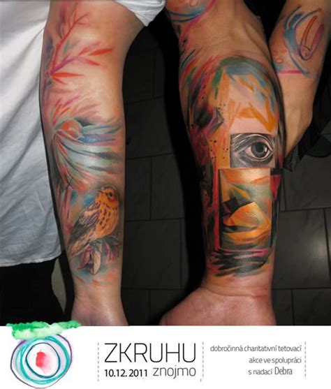 splash tattoo designs artist ondrash inks watercolor paintings into skin