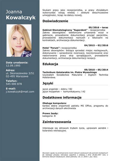 Lebenslauf Doc by Cv Wz 243 R Do Pobrania Curriculum Vitae