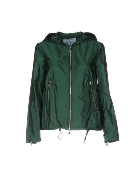 Prada Jaket prada jacket in green lyst