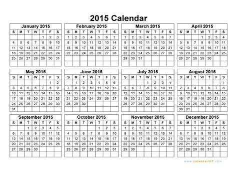 printable yearly a4 calendar 2015 2015 calendar blank printable calendar template in pdf