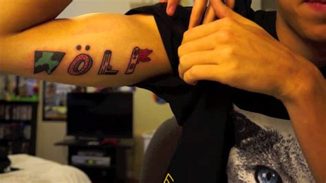tyler the creator tattoos i got the wolf