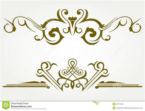 Decoration De Page by Design Element And Page Decoration Stock Vector Image