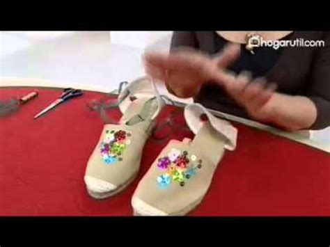 decorar zapatillas con lentejuelas decorar alpargata de noche youtube