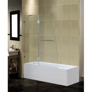 frameless pivot tub height shower door wayfair
