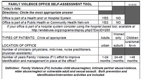 domestic violence risk assessment template family violence office self assessment tool futures