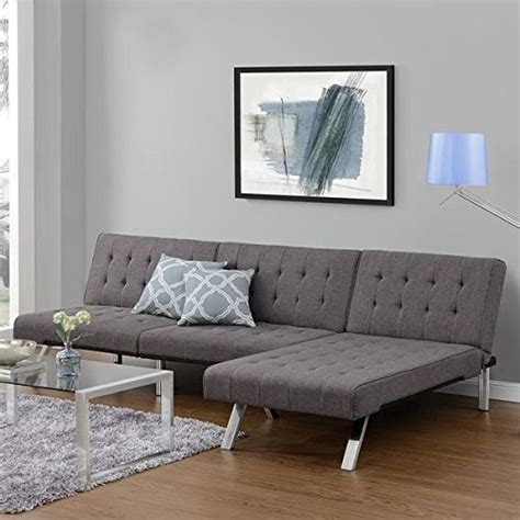 dhp emily futon sofa emily futon chaise lounger gray sofas and couches