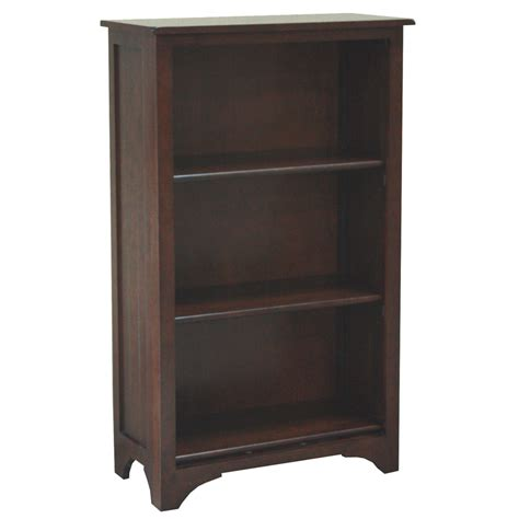 bookshelves lowes shop allen roth loren espresso 45 5 in 3 shelf bookcase