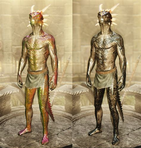male dragonic argonian textures 4k 2k sos and vanilla アルゴニアン おすすめmod順 skyrim special edition mod データベース