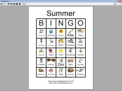 Printable Art Bingo Cards | 4 best images of free printable summer bingo free