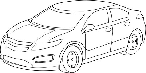 cartoon sports car black and white cool sports car coloring page free clip art