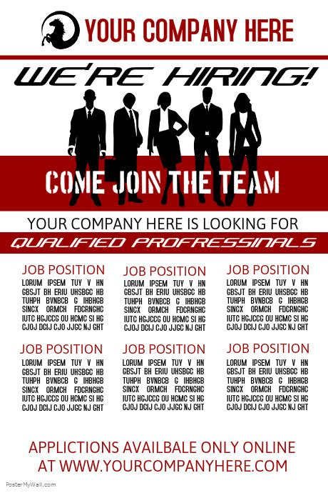 hiring ad template we re hiring template postermywall