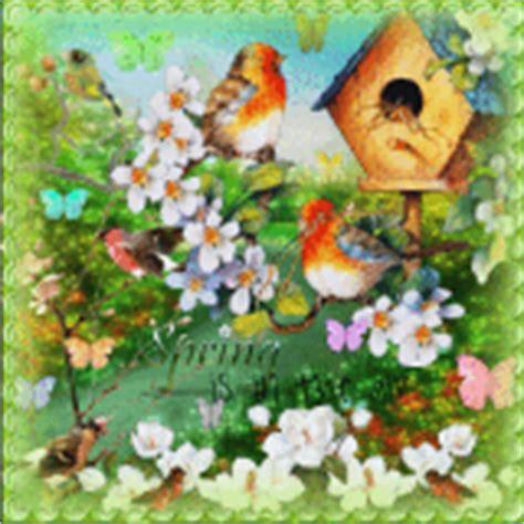 gif wallpaper birds spring animated flowers tree birds graphic 5170215