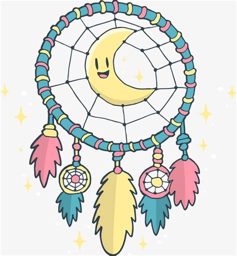 dreamcatcher png dreamcatcher moon blue png image and clipart for free