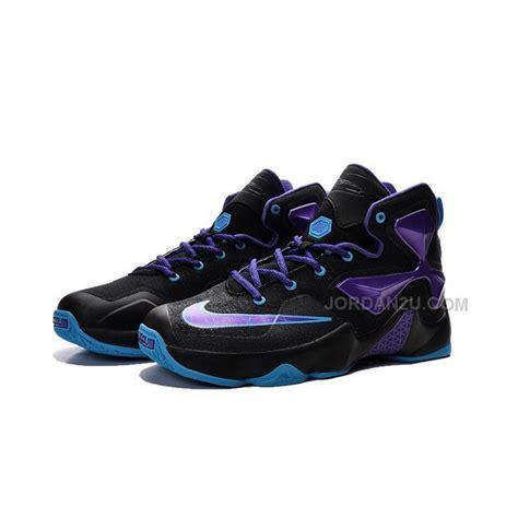 lebron shoes kid nike basketball sneakers lebron 13 purple black blue