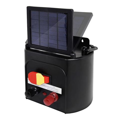 best solar electric fence charger solar power electric fence charger energizer with solar