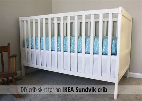 Sundvik Crib by Crib Skirt For An Sundvik Crib Crib Skirts Diy