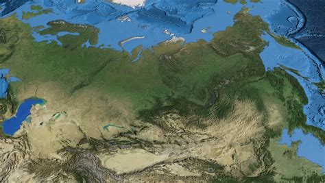 russia map satellite earthlings stock footage