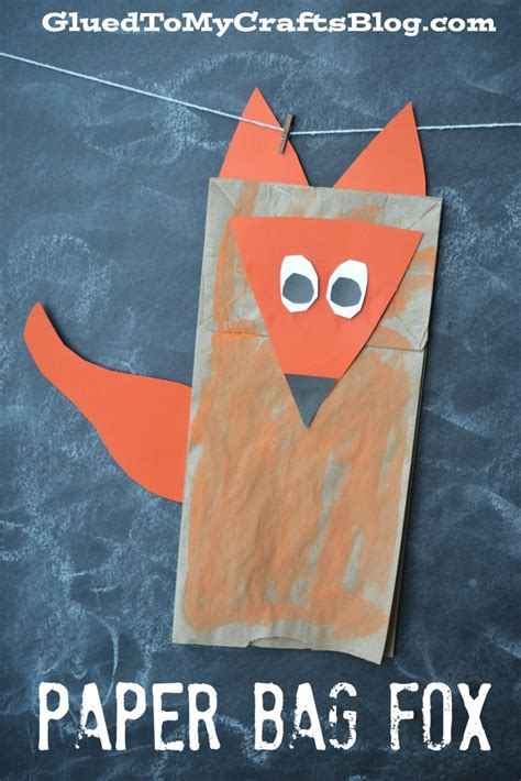 Paper Bag Arts And Crafts For - paper bag fox kid craft