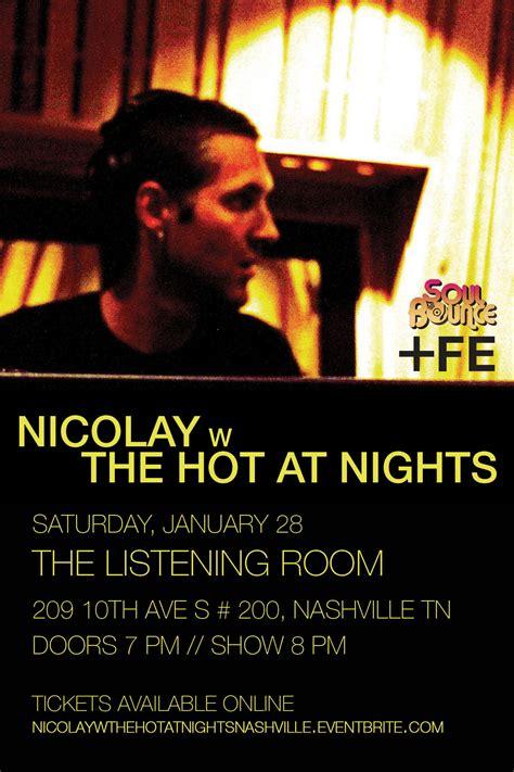 the listening room nashville tn nicolay with the at nights at the listening room nashville tn jan 28 2012