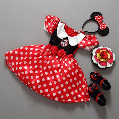 Dress Anak Import Mickey Mouse Kostum Mickey Minnie Dress Hitam Spots retail minnie mouse dress mini mouse costume ballet tutu