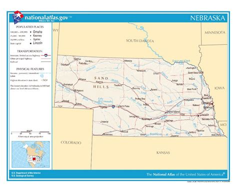 road map of nebraska usa maps of nebraska state collection of detailed maps of