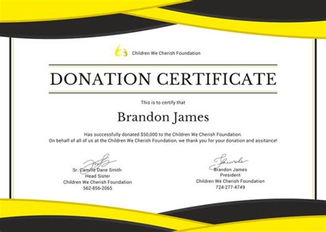 Donation Certificate Template 8 Free Word Pdf Charity Gift Certificate Template