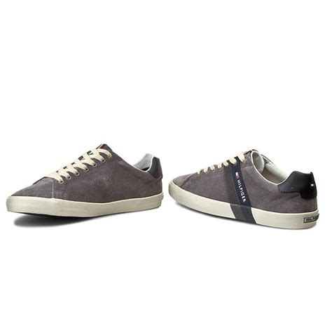Sneakers Shoes E 039 sneakers hilfiger volley 5b fm56819868 steel grey