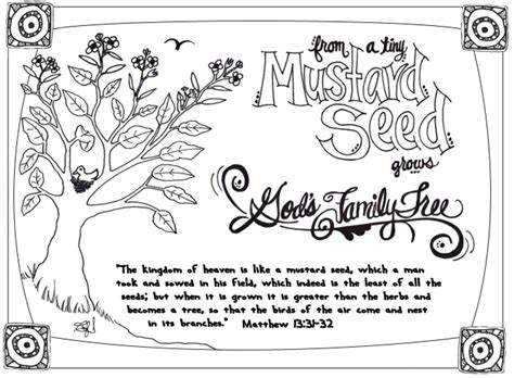 parable of the mustard seed sunday school mustard seed
