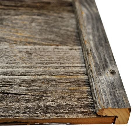 diy reclaimed barn wood finish trim in brown or grey to cover cut edges on a flat wall east