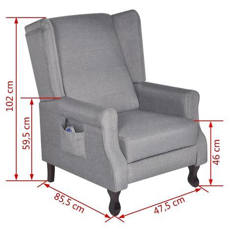 sillon reclinable de masaje sill 243 n reclinable ajustable de masaje tela gris tienda