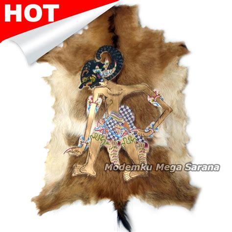 Tulis Hiasan Lukisan Wayang Kulit Bima Werkudara Kulit Asli jual lukisan wayang werkudara bima kulit kambing