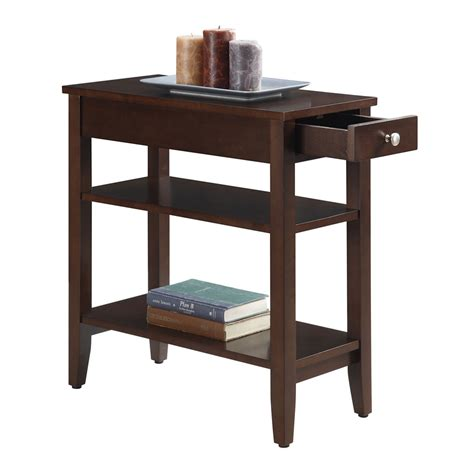 espresso accent table convenience concepts american heritage espresso three tier