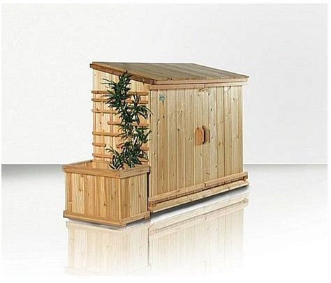 Outdoor Trash Can Storage Shed by Trash Bin Shed Plans Woodworking Projects Plans