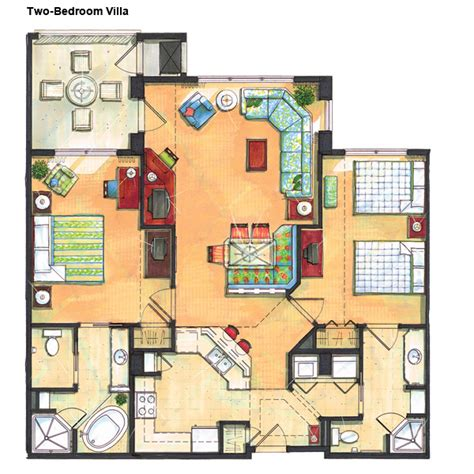 2 Bedroom Villa Floor Plans by River Island Two Bedroom Villa Other Stuff Pinterest
