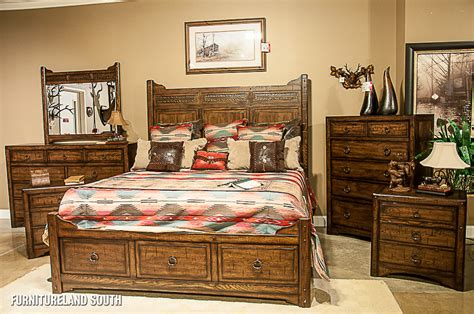 country bedroom sets folio 21 furniture distressed country 6 piece king panel