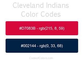 cleveland indians colors cleveland indians colors hex and rgb color codes