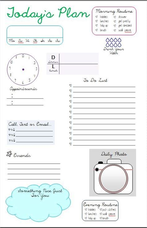 Calendar Do It Yourself Templates 25 Best Ideas About Daily Planner Pages On