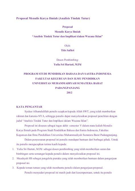 Membuat Proposal Karya Ilmiah | proposal menulis karya ilmiah shintia m