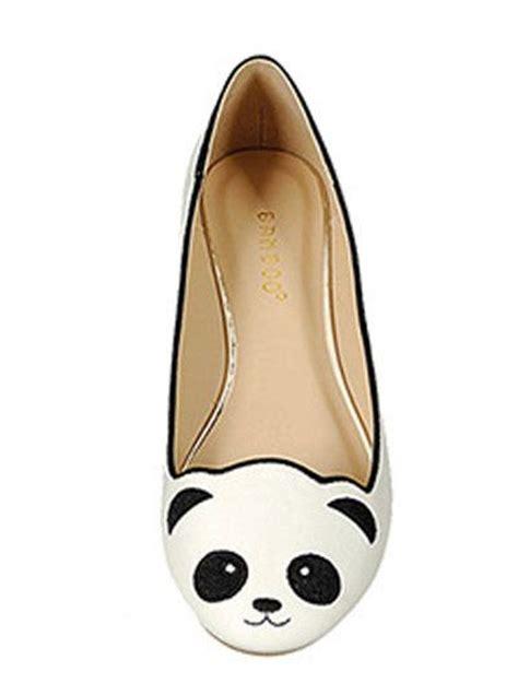 panda flats shoes panda flats adorable white panda ballet flats panda