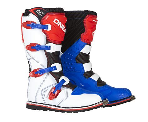 red dirt bike boots o neal blue red white rider mens dirt bike boots 2017 atv