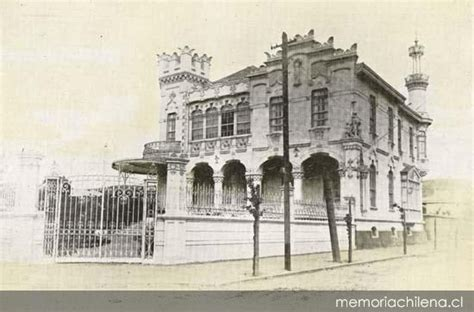 fotos antiguas quillota palacio de ricardo daneri en la calle quillota hacia 1913