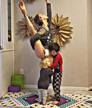 woman who posts breastfeeding yoga pictures online divides