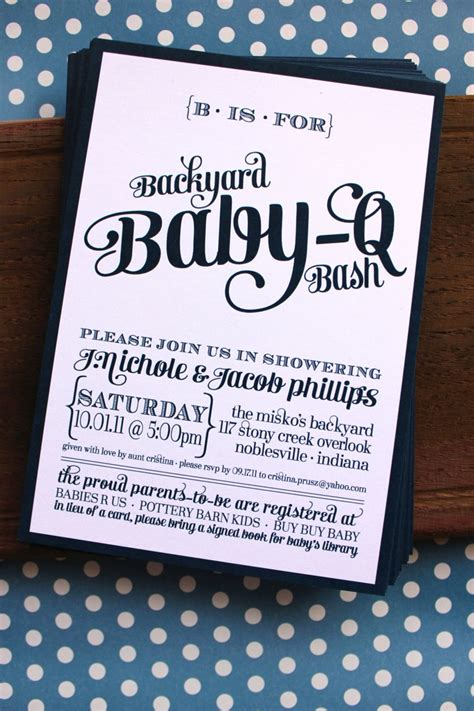 backyard baby shower invitations backyard baby q bash shower invitations available in